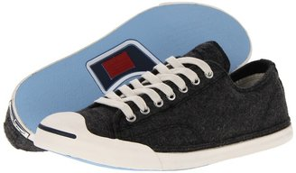 Converse Jack Purcell LP Ox Compacted Wool (Charcoal Heather) - Footwear