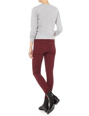 Current/Elliott Bordeaux Ankle Skinny Jeans