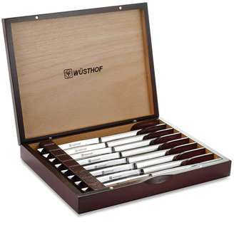 Wusthof Stainless 8-Piece Steak Knife Set in Rosewood-Colored Chest
