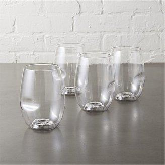 CB2 Set Of 4 Govino Stemless Wine Glasses