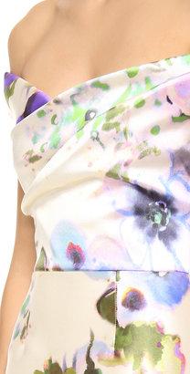 Lela Rose Floral Off Shoulder Dress