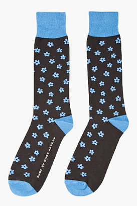 Marc by Marc Jacobs Blue Floral Print Socks