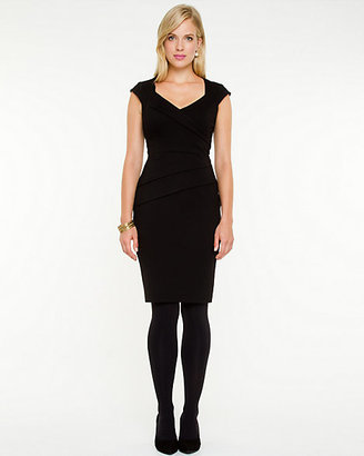 Le Château Sponged Knit Fitted Dress