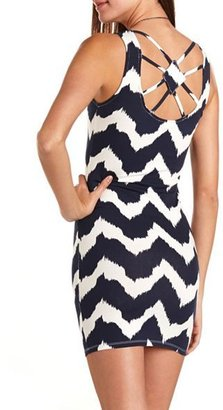 Charlotte Russe Strappy Back Chevron Dress