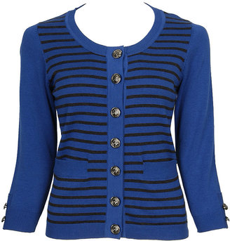 Forever 21 Anchor Button Striped Cardigan