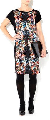 Wallis Black Oriental Print Shift Dress