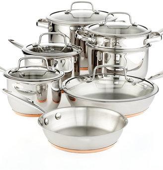 """ Martha Stewart Collection Copper Accent 12-Pc. Cookware Set"