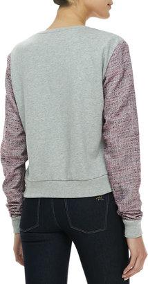 Rebecca Minkoff McCall Mixed-Media Sweatshirt