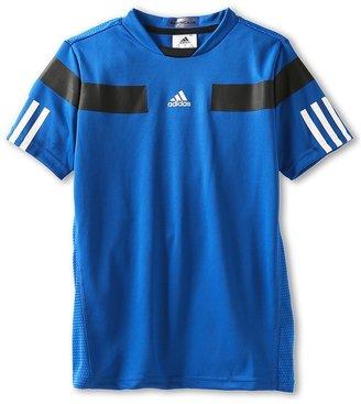 adidas Kids - Boy's Adipower Barricade Tee (Little Kids/Big Kids) (Blue Beauty/Black/White) - Apparel
