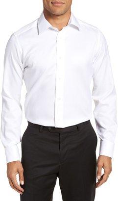 David Donahue Trim Fit Twill French Cuff Tuxedo Shirt