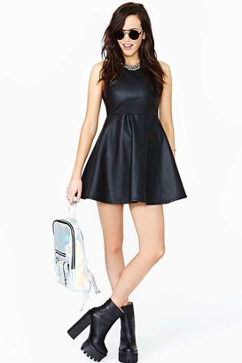 Nasty Gal Night Avenger Faux Leather Dress