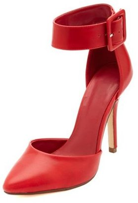 Charlotte Russe D'Orsay Ankle Strap Pointed Toe Heels