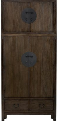 Crate & Barrel Beijing Armoire with Top