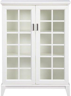 Crate & Barrel White Two-Door Cabinet.