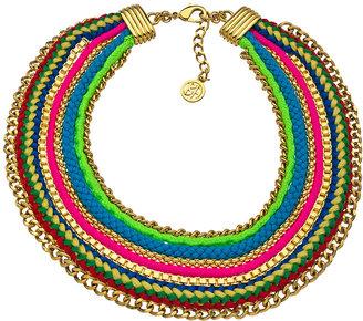 Ben-Amun Rainbow Multi Row Statement Necklace