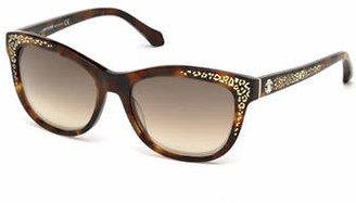 Roberto Cavalli 55mm Spot Print Wayfarer Sunglasses