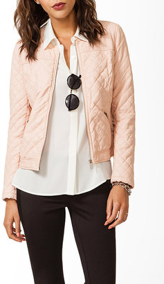 Forever 21 Wavy Paneled Quilted Jacket