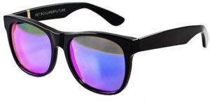 RetroSuperFuture Super Sunglasses Basic in Black Matte Rainbow Lens