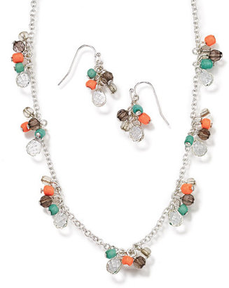 Avon Beaded Cluster Necklace and Earring Gift Set