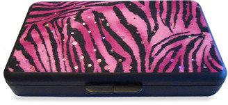 Bed Bath & Beyond K Quinn Designs Pink Sparkling Zebra Wipe Clutch