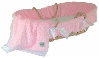 Wendy Anne Moses Basket With Minky Dot Bedding