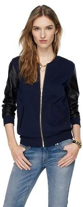 Juicy Couture Leather Sleeved Bomber Jacket