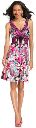 Style&Co. Dress, Sleeveless Floral-Print A-Line