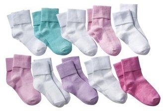 Circo Girls' Pastel Colored 10 pk Bobby Socks
