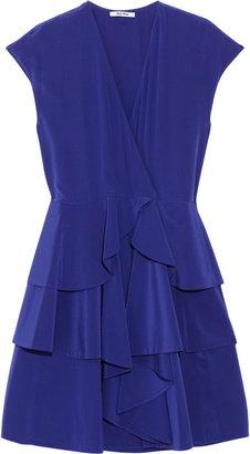 Miu Miu Tiered silk crepe de chine dress