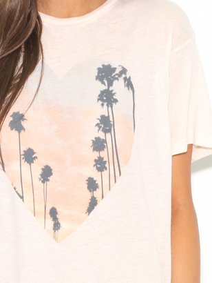 Wildfox Couture Oversized Cali Heart Tee in Ghost Nude