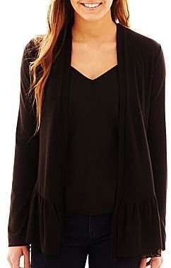 JCPenney Lace-Trim Cardigan
