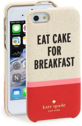Kate Spade 'cake for breakfast' cutout iPhone 5 & 5s case
