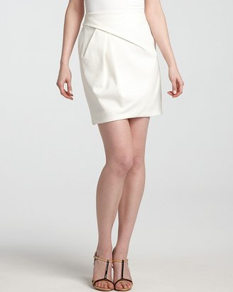 Halston Skirt - A Line with Side Pleat