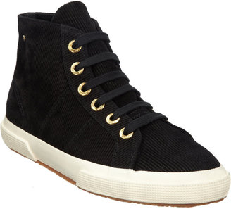 The Row Suede Corduroy High-Top Sneakers