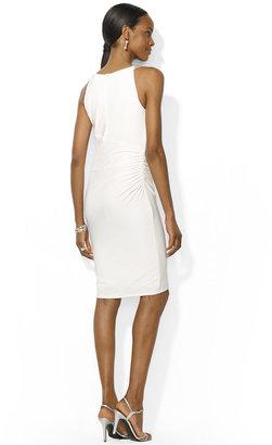 Lauren Ralph Lauren Sleeveless Beaded Sheath Dress