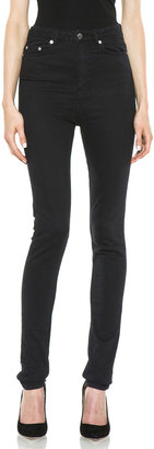 BLK DNM 5 Pocket Cotton-Blend Legging in Platt Black