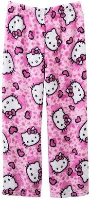 Hello Kitty heart cheetah plush pajama pants - girls