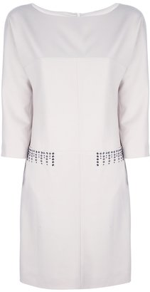 Philosophy di Alberta Ferretti 3/4 sleeve stud dress