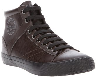 Armani Jeans leather hi top sneaker