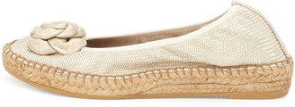 Andre Assous Cleo Embossed Espadrille Flat, Gold