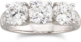 FINE JEWELRY DiamonArt Cubic Zirconia 3-Stone Ring $312.48 thestylecure.com