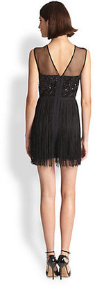 BCBGMAXAZRIA Search Results, Melly Sequin Fringe Cocktail Dress
