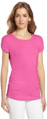 Vince Camuto Women's Cap Sleeve Rouch...
