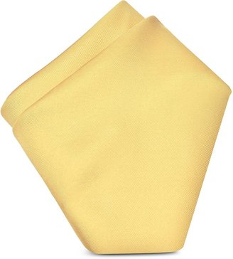Forzieri Light Yellow Silk Pocket Square