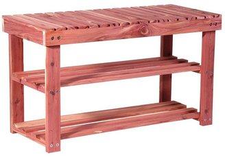 Household Essentials Cedar Shoe Bench