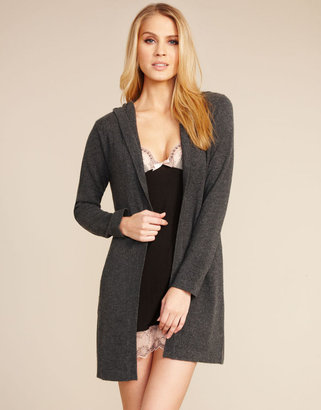 Figleaves nightwear Repose Pure Cashmere Hooded Robe