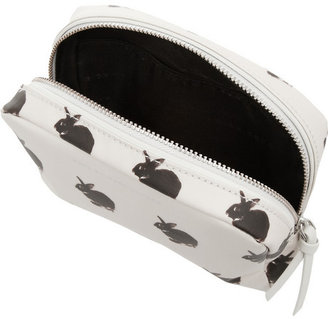 Marc by Marc Jacobs Rabbit-print coated cotton cosmetics case