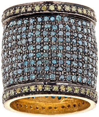 Rona Pfeiffer Blue Diamond Cigar Band Ring*