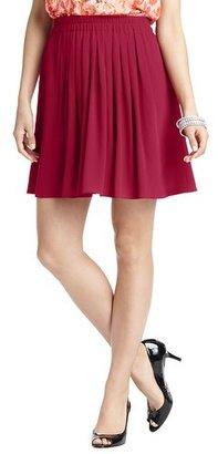 LOFT Pleated Crinkle Chiffon Elastic Waist Skirt