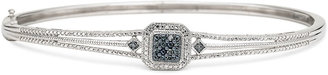 JCPenney FINE JEWELRY 1/10 CT. T.W. White & Color-Enhanced Blue Diamond Bangle